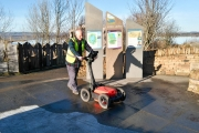 GPR scan for buried pipe detection